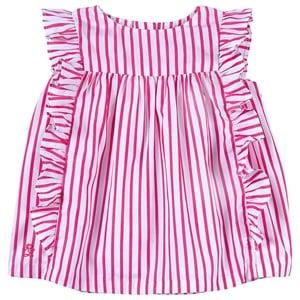 Ralph Lauren Striped Toppset Pink/White 3 mån