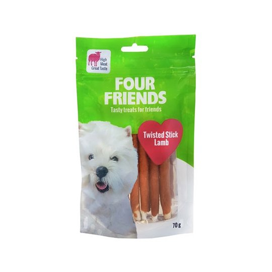 FourFriends Dog Twisted Stick Lamb 12,5 cm (7 pack)