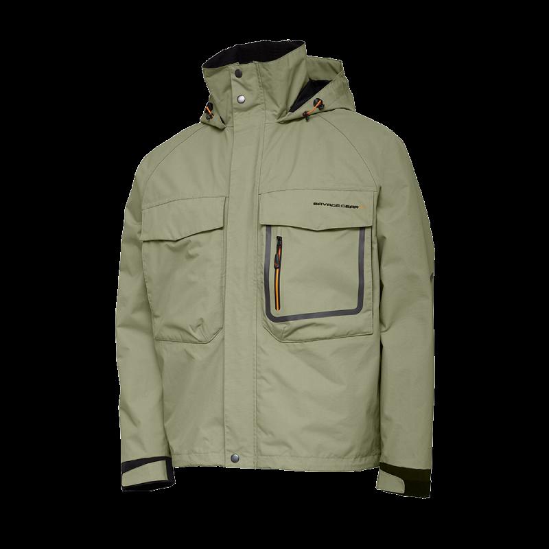 Savage Gear SG2 Hybrid Jacket Slate S 2-lags vanntett jakke i Slate Green