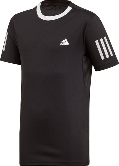 Adidas Boys Club 3-Stripes T-Skjorte Treningsgenser, Black 116
