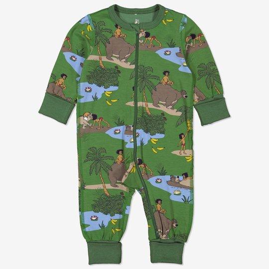 Hel pyjamas med jungelboken-trykk baby grønn