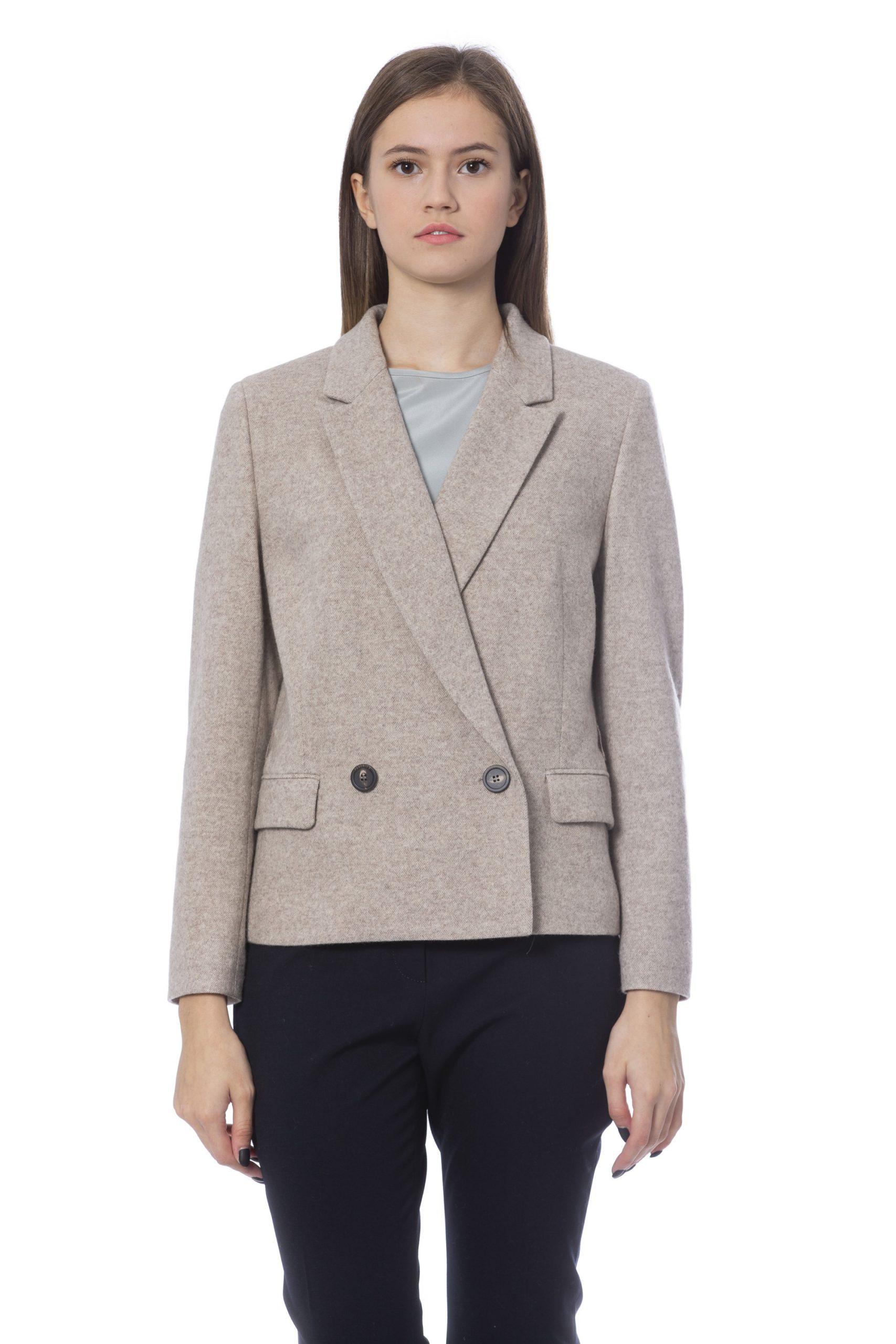 Peserico Women's Jackets Beige PE854468 - IT42 | S
