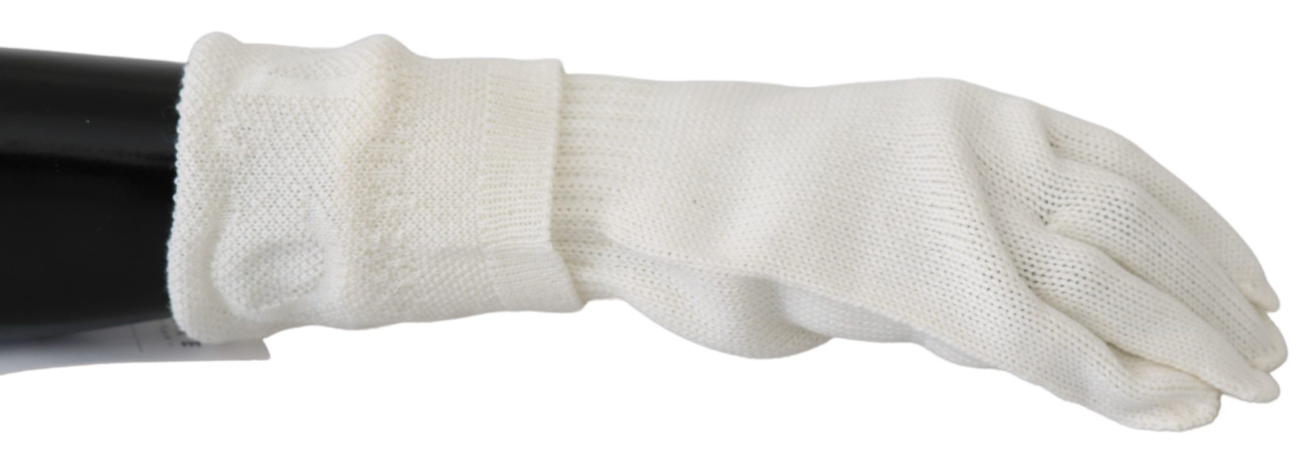 Costume National Men's Wool Knitted One Size Wrist Gloves White LB3012