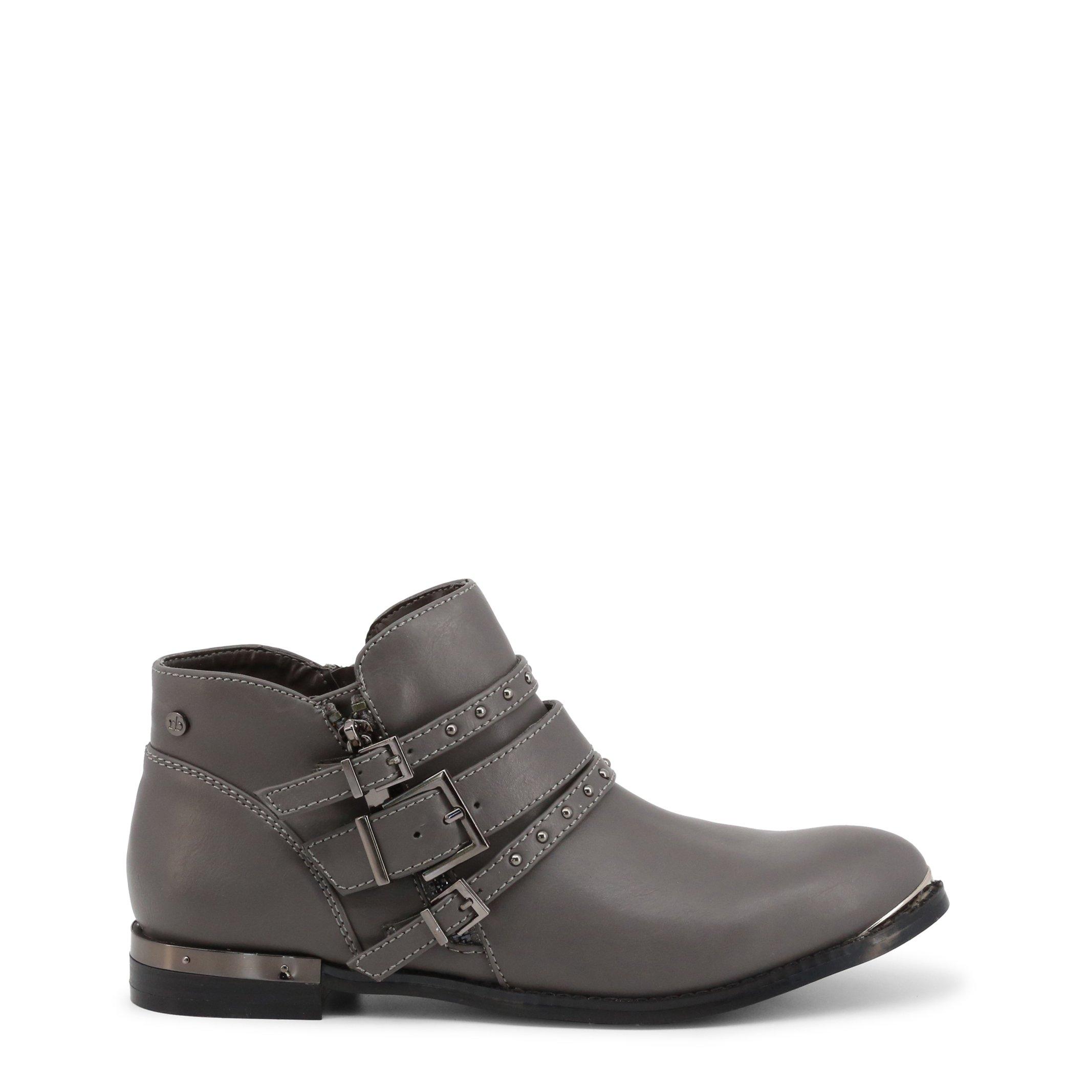 Roccobarocco Women's Ankle Boot Black RBSC0U102 - grey EU 35