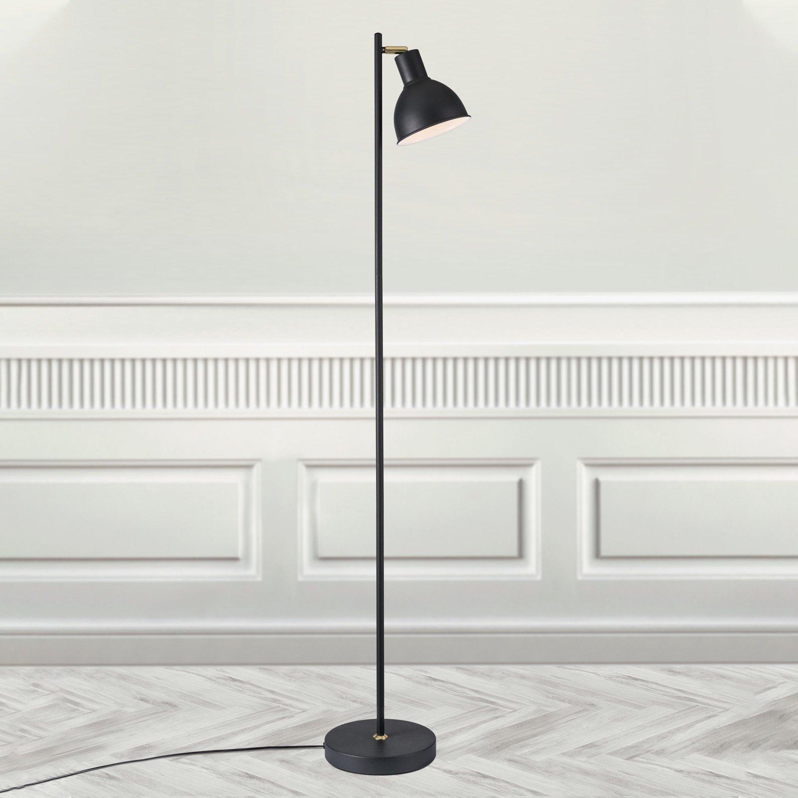 Gulvlampe Pop i slank design, svart