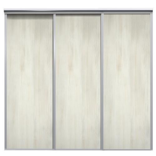 Mix Skyvedør White wood 2080 mm 3 dører