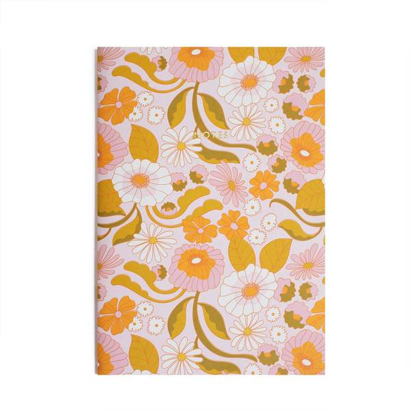 60's Retro Floral A4ish Notebook