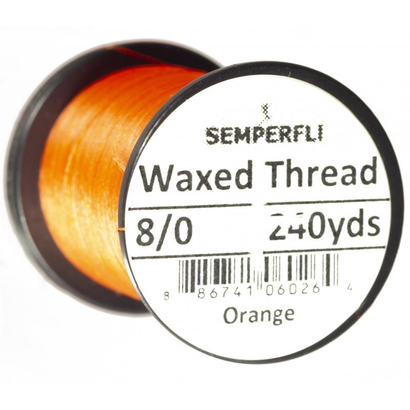 Semperfli Classic Waxed Thread Orange 8/0