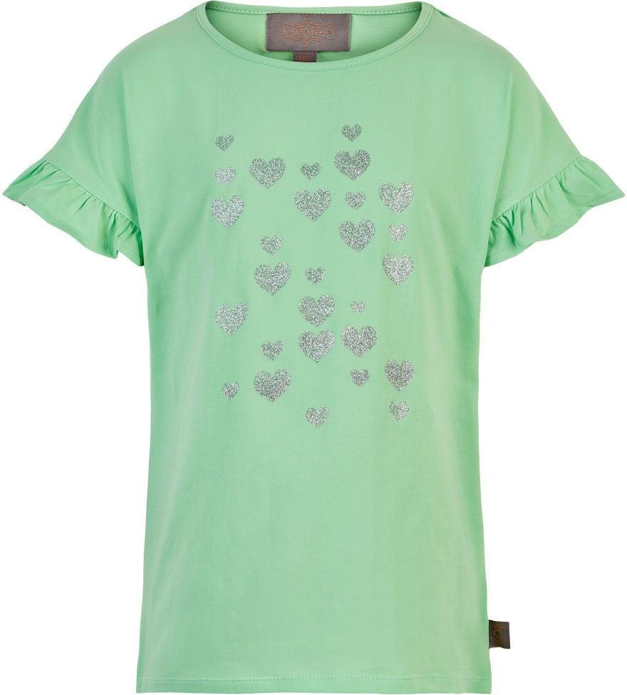 Creamie Silver Heart T-Shirt, Mint, 110