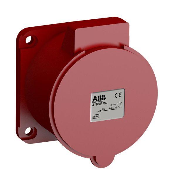 ABB 2CMA102326R1000 Paneluttak hurtigtilkoblet, vibrasjonsbestandig Rett, 5-polet, 16 A, 56x56 mm