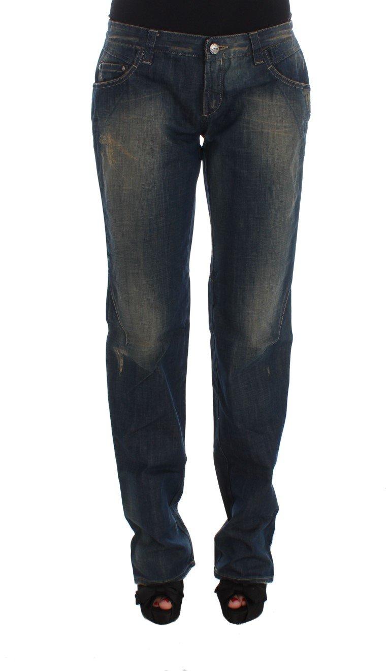 Costume National Women's Cotton Boyfriend Denim Jeans Blue SIG32584 - W28