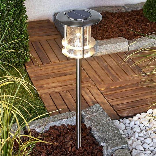 Sumaya – aurinkokäyt. LED-lamppu, ruost. teräs