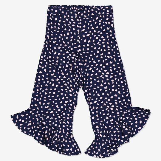 Bukse med mønster blå