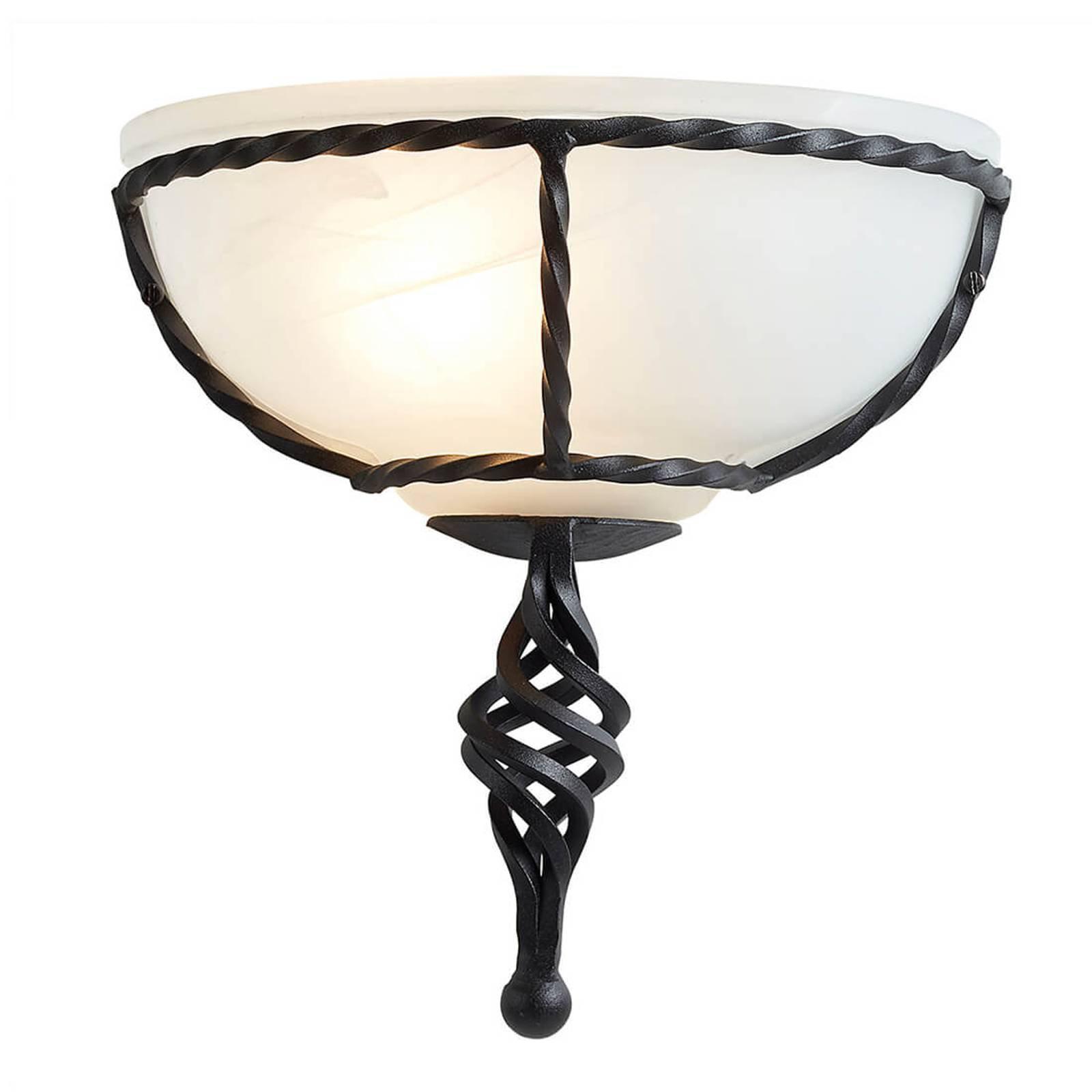 Vegglampe Pembroke, svart stamme