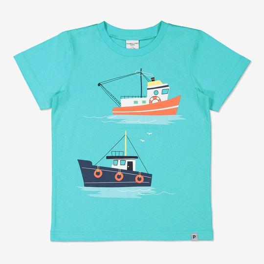 T-skjorte med trykk turkis