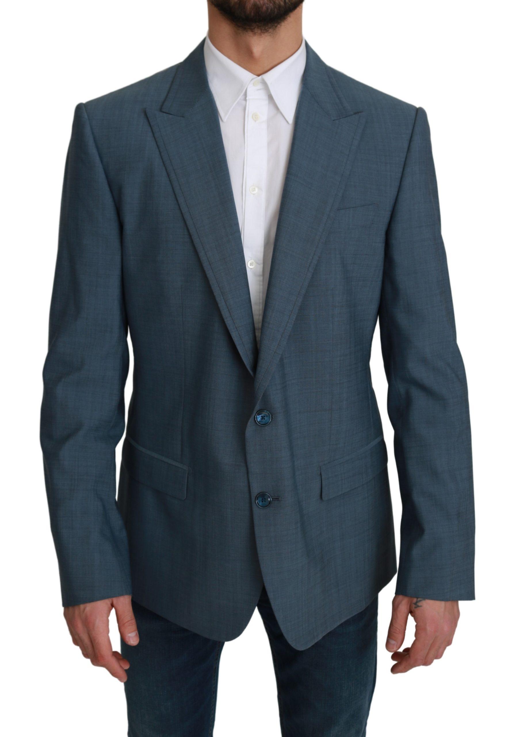 Dolce & Gabbana Men's Single Breasted Formal Wool Blazer Light Blue KOS1743 - IT54 | XL