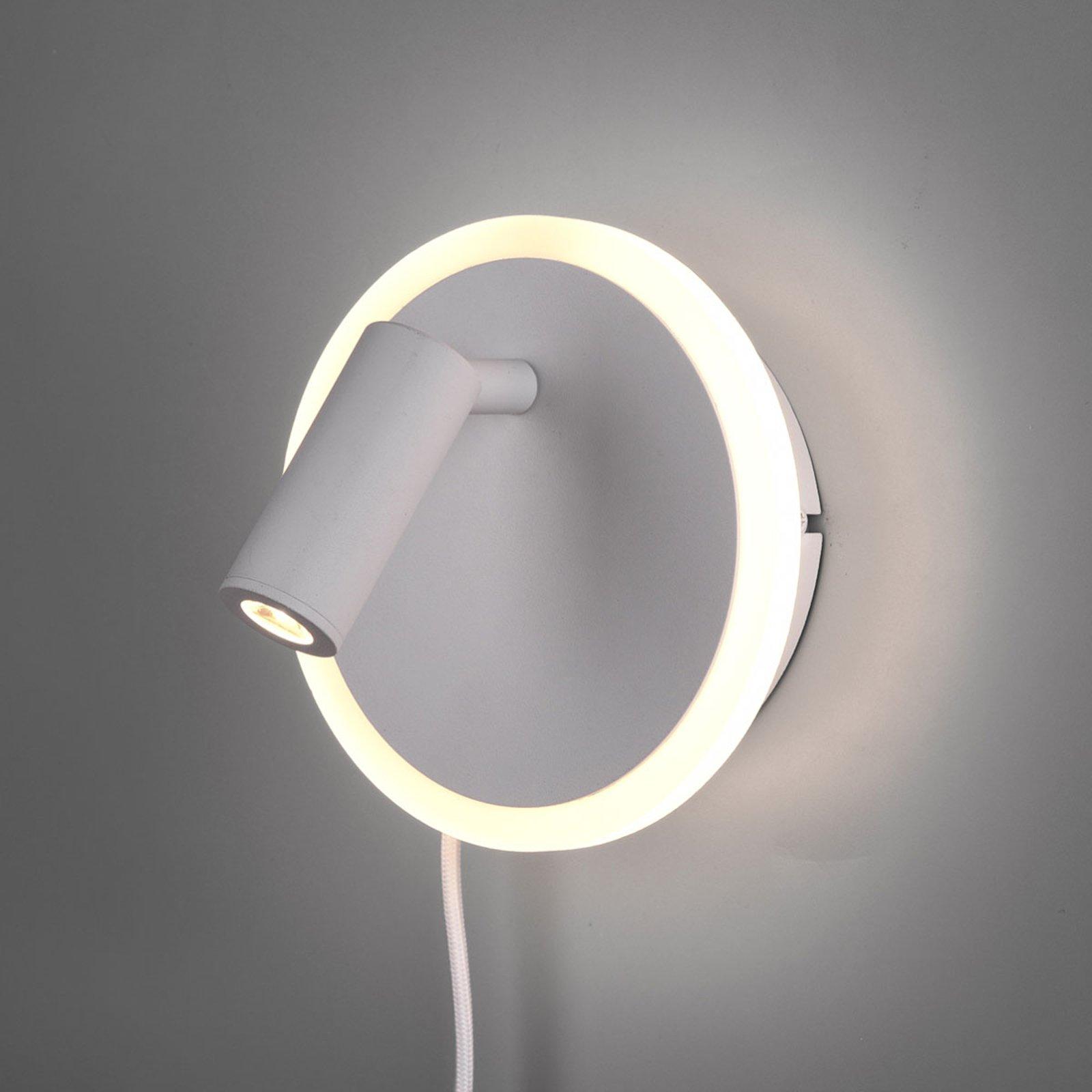 LED-vegglampe Jordan, 2 lyskilder, hvit