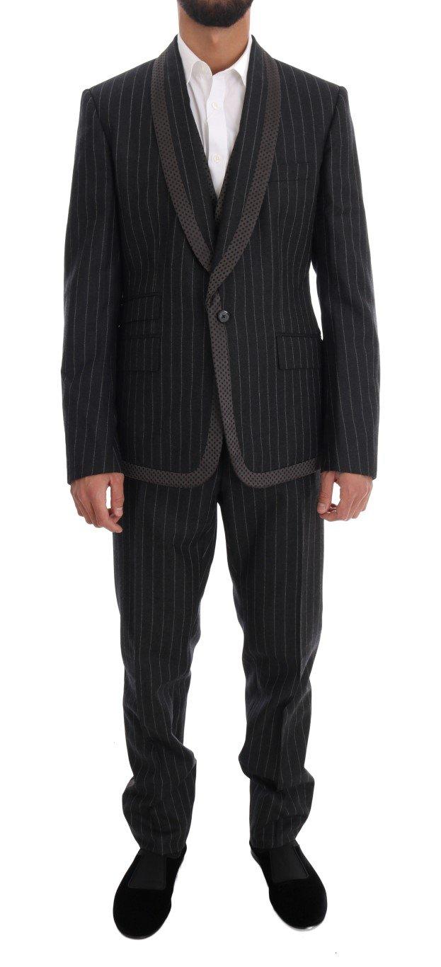Dolce & Gabbana Men's Wool One Button 3 Piece Suit Gray KOS1067 - IT52 | XL