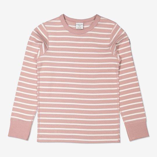 Stripet genser rosa