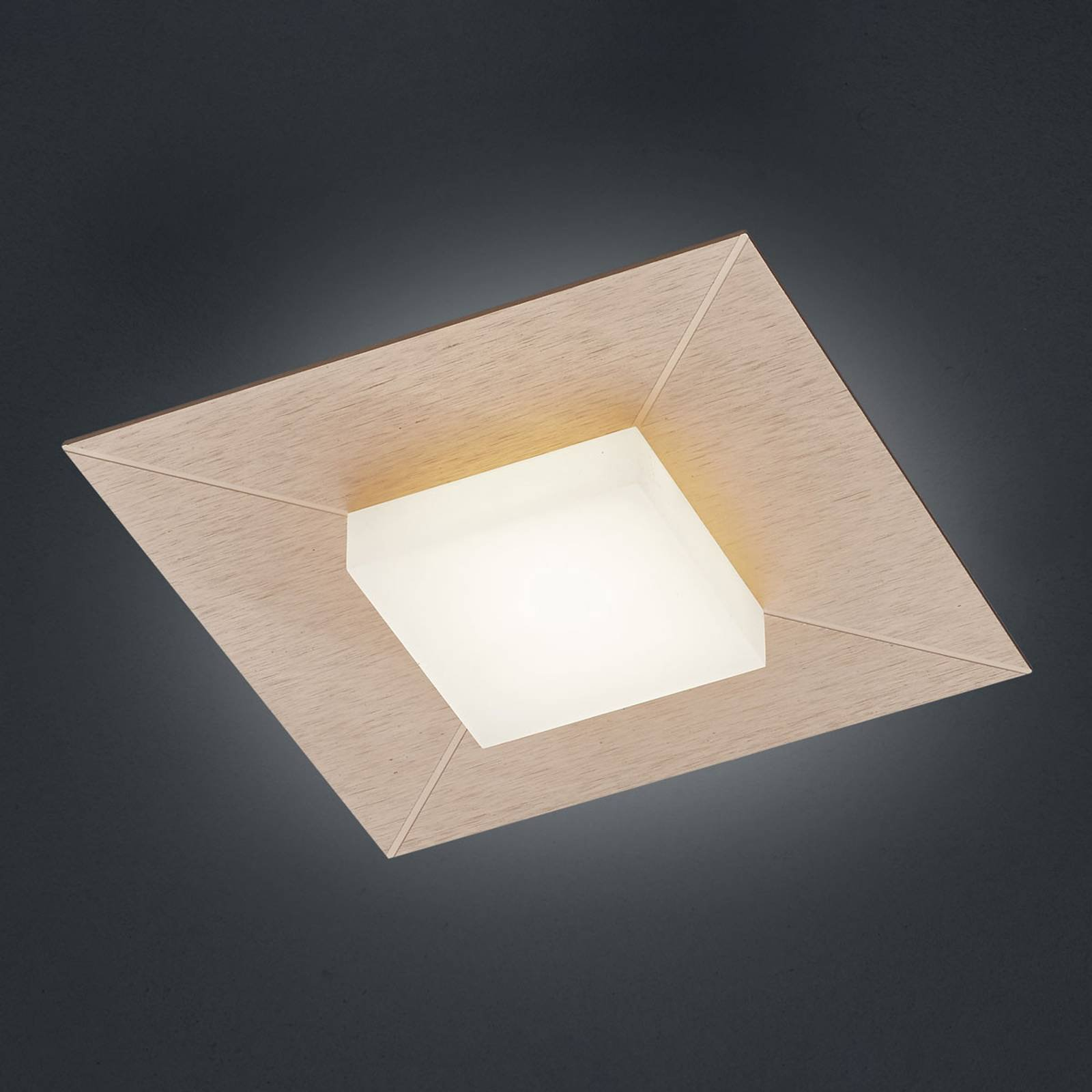 BANKAMP Diamond taklampe 17x17 cm, roségull