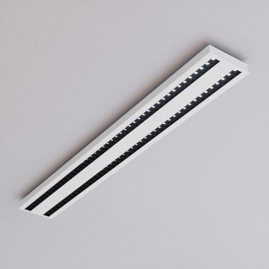 LED-toimisto-kattovalaisin Jolinda kaksirivinen