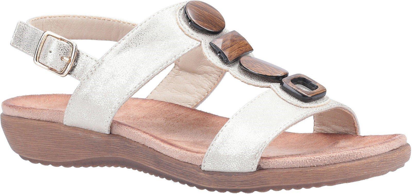 Fleet & Foster Women's Rosa Buckle Sandal Various Colours 30101 - Beige 3