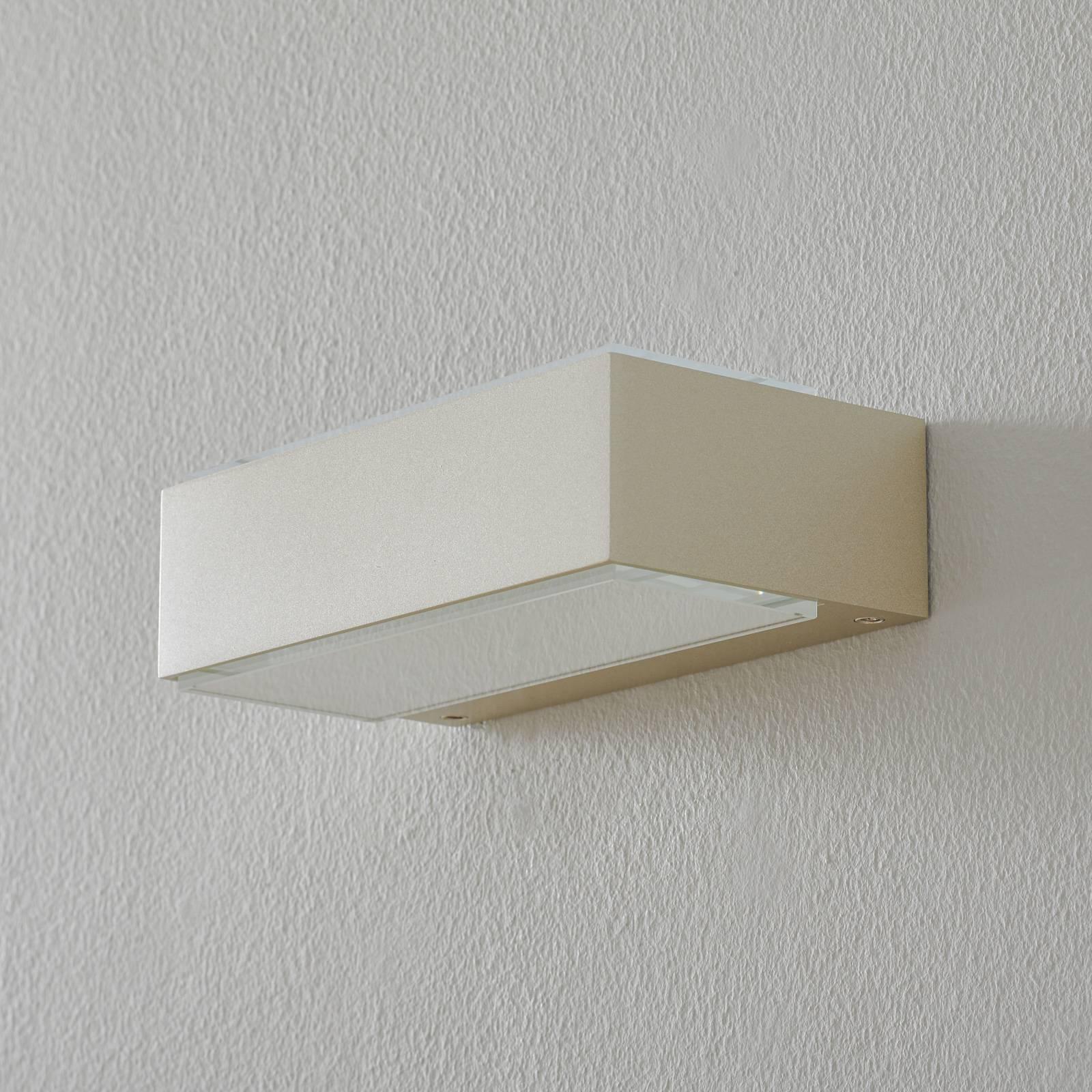 BEGA 12277 LED-seinävalaisin 3000K 20 cm palladium
