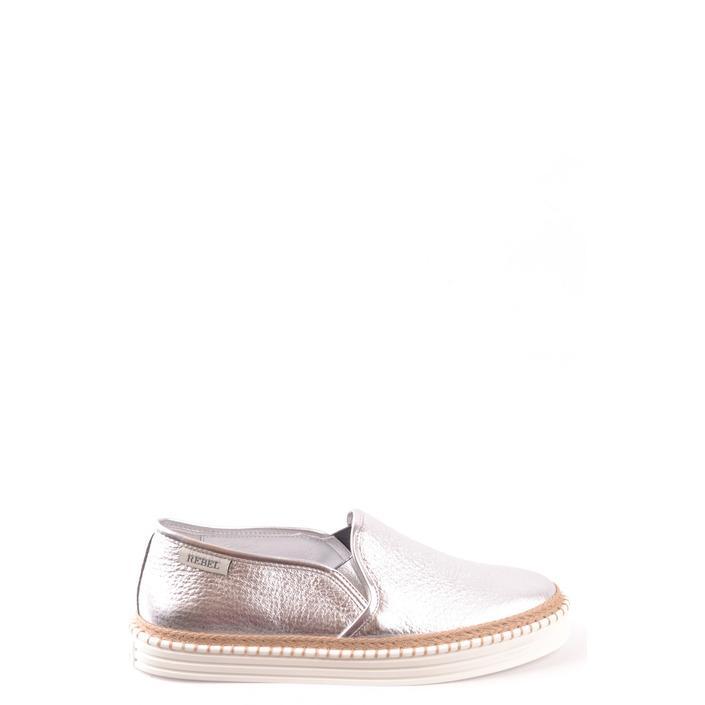 Hogan Women's Slip On Shoes Silver 167474 - silver 38.5