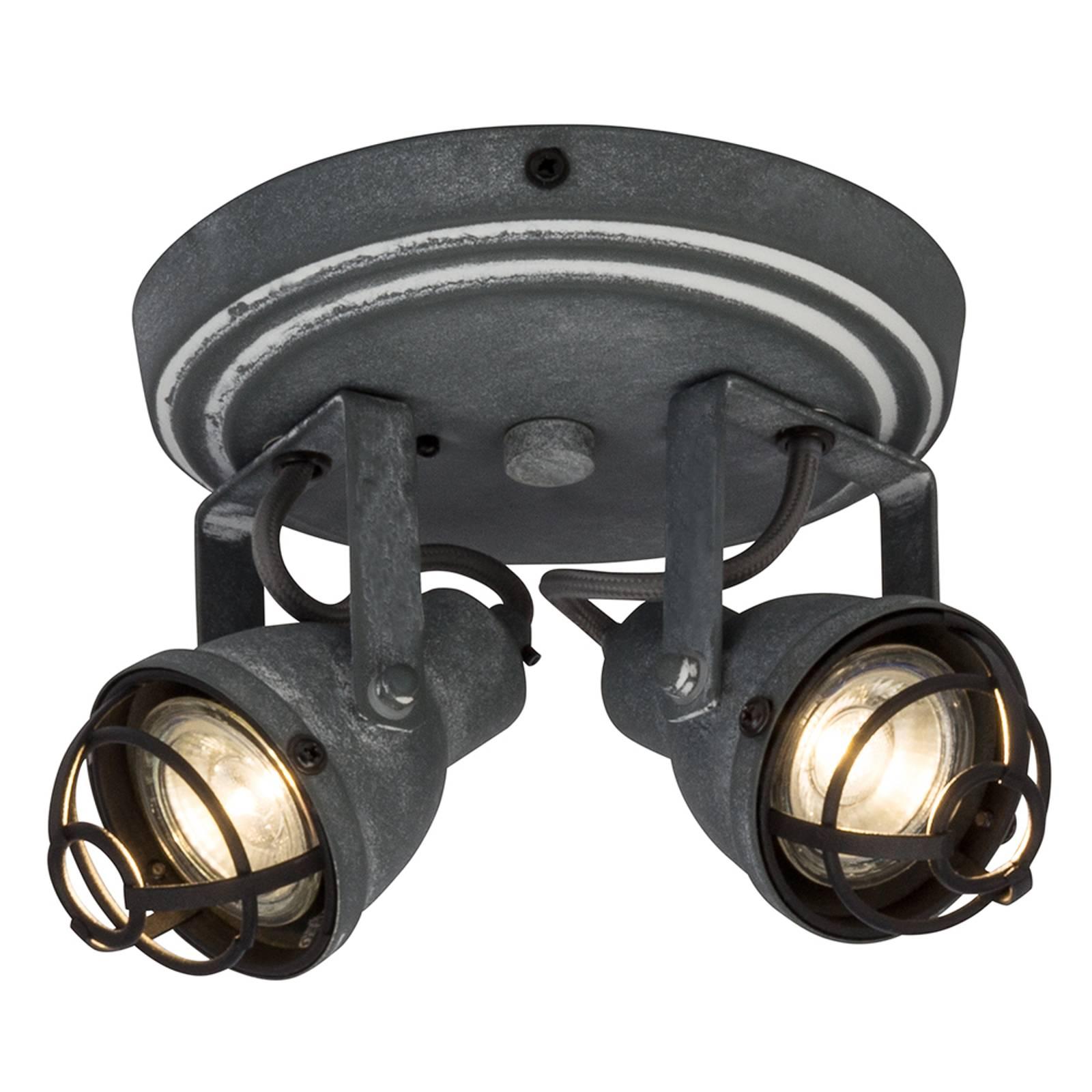 Bente-kattovalaisin 2 säädettävällä LED-spotilla