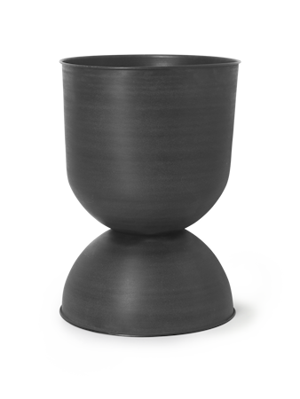 Hourglass Blomsterkrukke Stor Svart/Mørkegrå