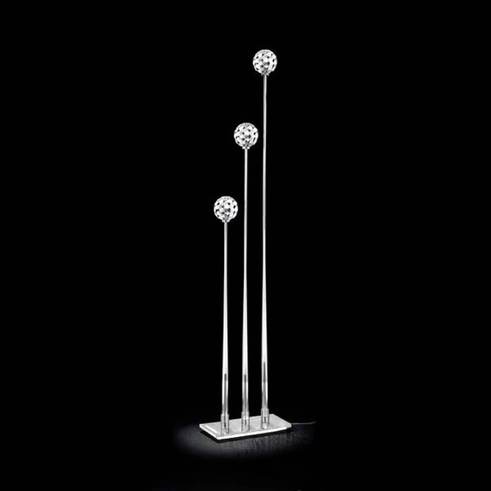Sfera gulvlampe med 3 lyskilder, klar fot