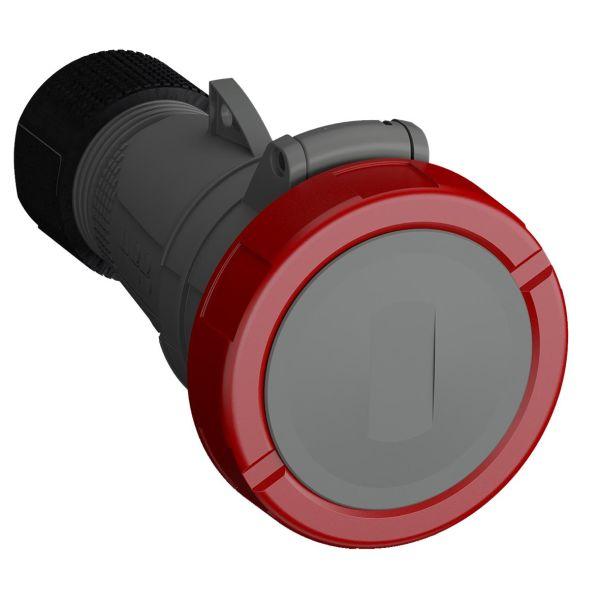 ABB 2CMA101127R1000 Jatkopistorasia pikaliitettävä, tärinänkestävä Punainen, 16 A, 4-napainen