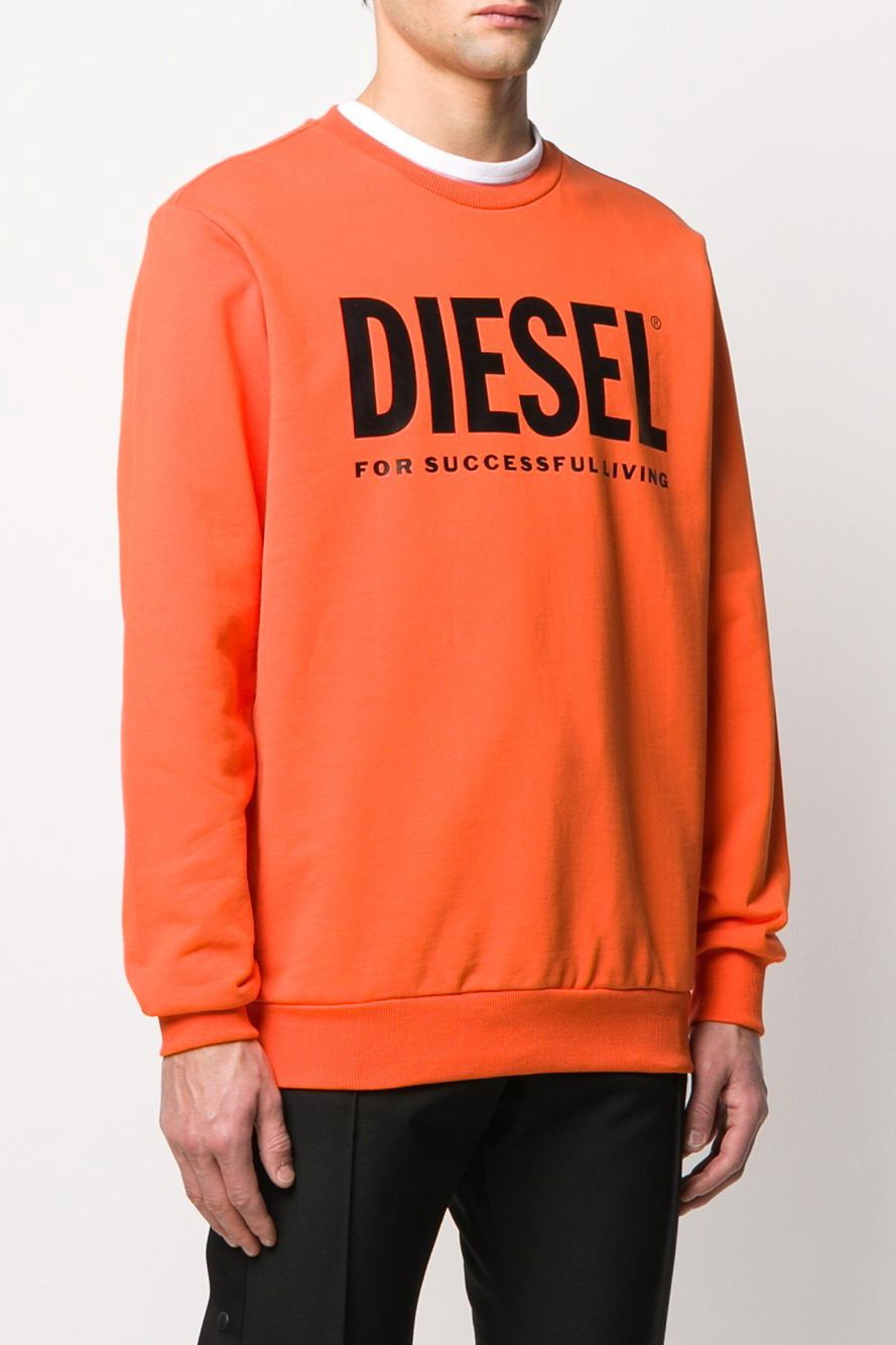 Diesel Men's Sweatshirt Various Colours 294057 - orange-1 L