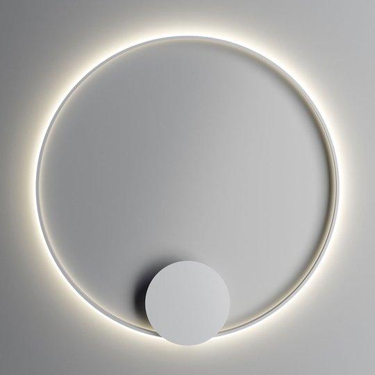 Fabbian Olympic -LED-seinävalo, Ø 110 cm, valk.