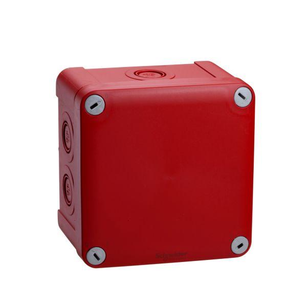 Schneider Electric ENN05175 Palorasia pinta-asennettava, punainen 105x105x55 mm