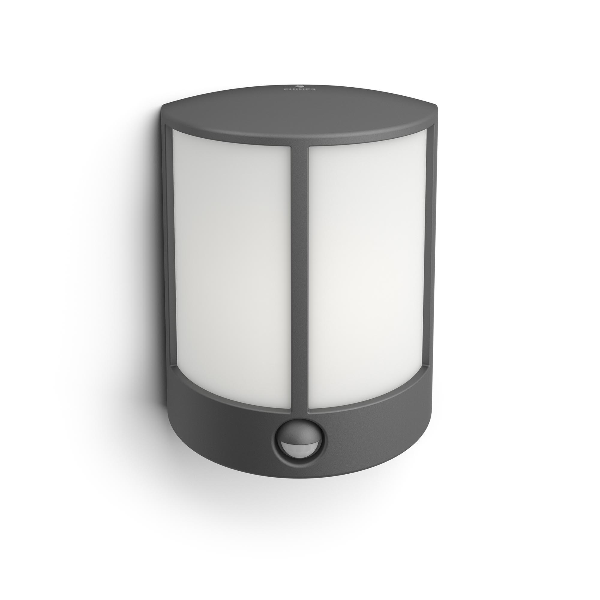 Philips - Stock IR wall lantern anthracite 6W - Mygarden
