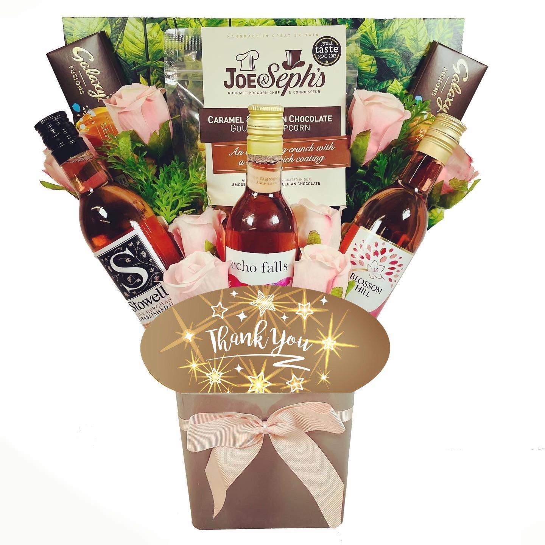 The Thank You Rosé Wine & Chocolates Bouquet