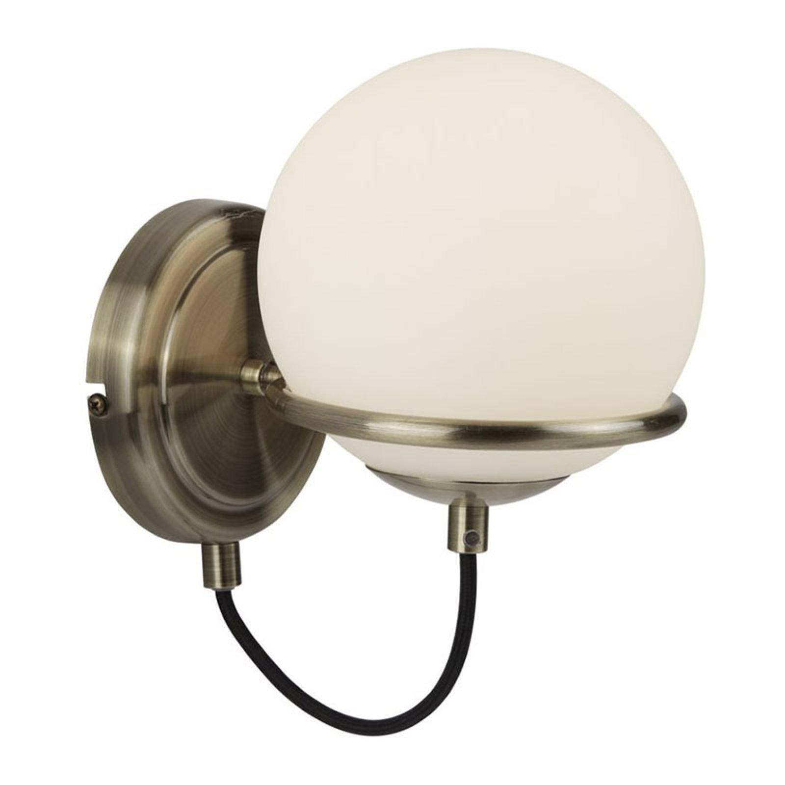 Vegglampe Sphere med kuleskjerm av glass