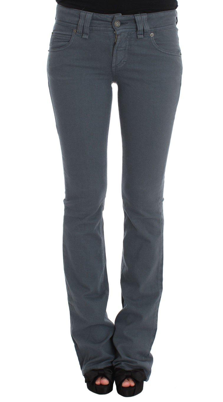 John Galliano Women's Cotton Blend Slim Fit Bootcut Jeans Blue SIG30205 - W30
