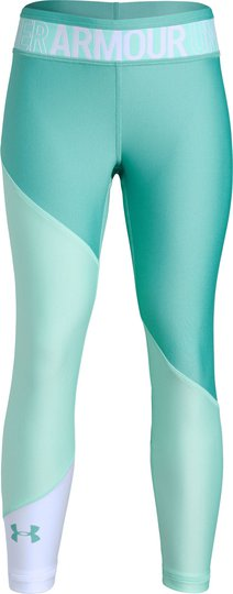 Under Armour HG Color Block Ankle Crop Legging, Neo Turquoise XS