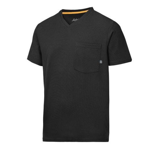 Snickers 2524 AllroundWork T-paita musta, v-aukko XS