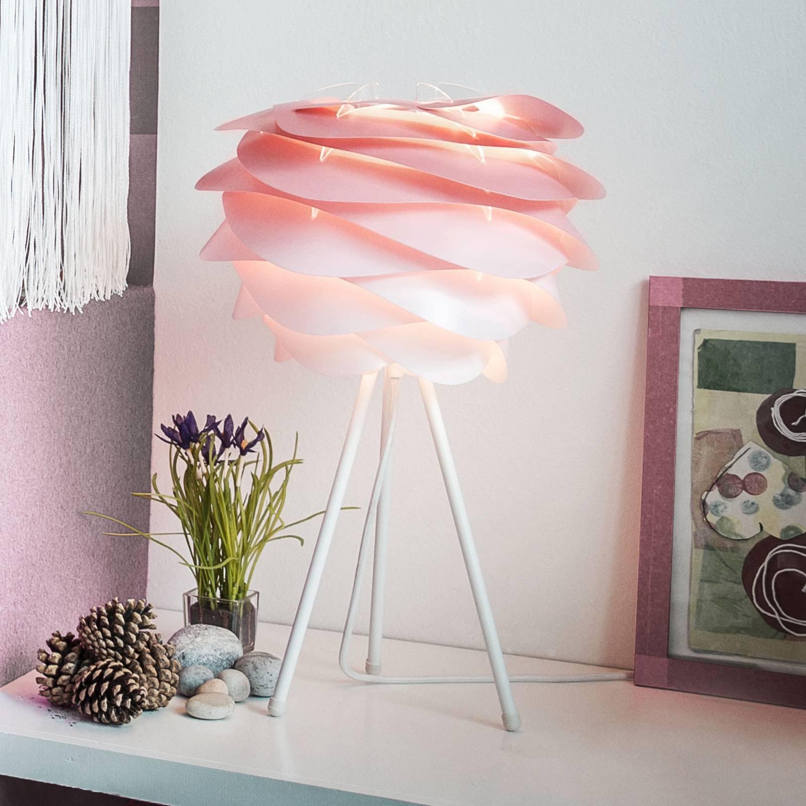 UMAGE Carmina Mini bordlampe rosa/hvit