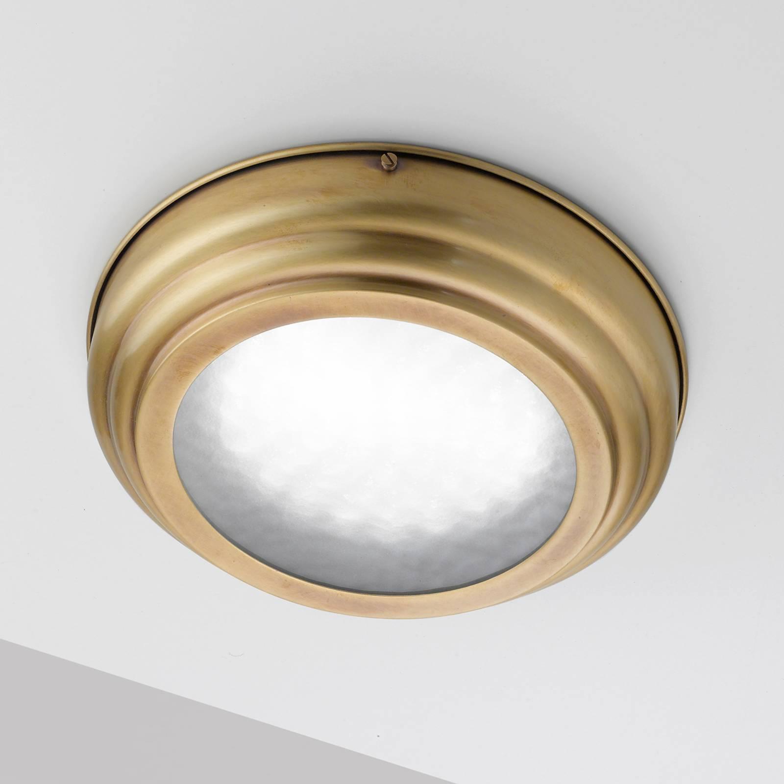 LED-kattovalaisin Scirocco, satinoitu messinki