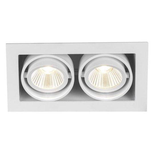 Hide-a-Lite Optic Box II Downlight-valaisin valkoinen 2700K, 1050 lm