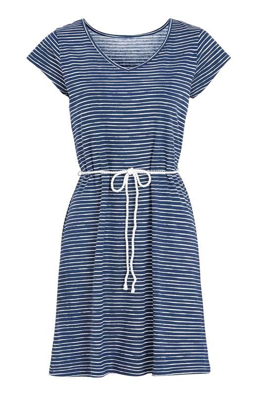 Cellbes Randig strandklänning Blå Randig