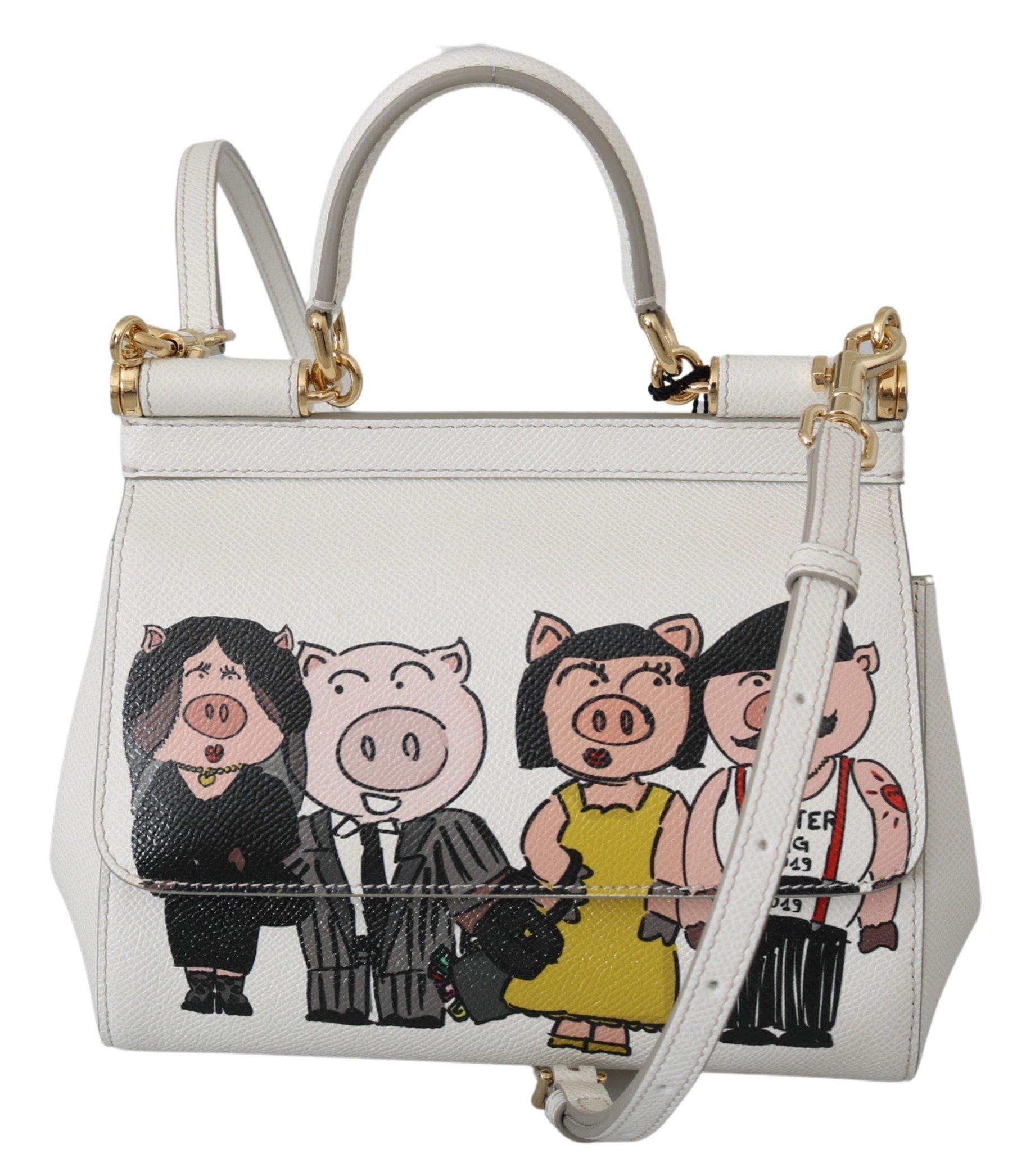 Dolce & Gabbana Women's Leather Shoulder Bag White VAS10075