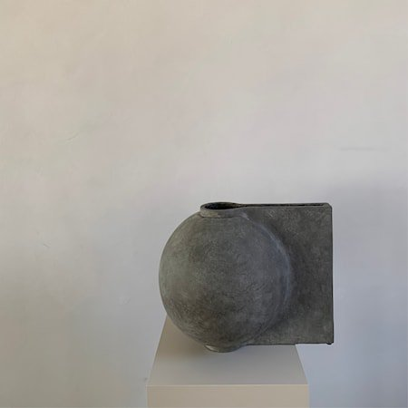 Offset Stor Vase Mørkegrå