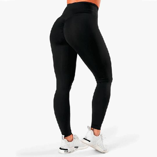 Scrunch V-Shape Tights, Black