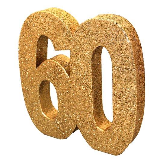Siffra 60 Guld Glitter Dekoration