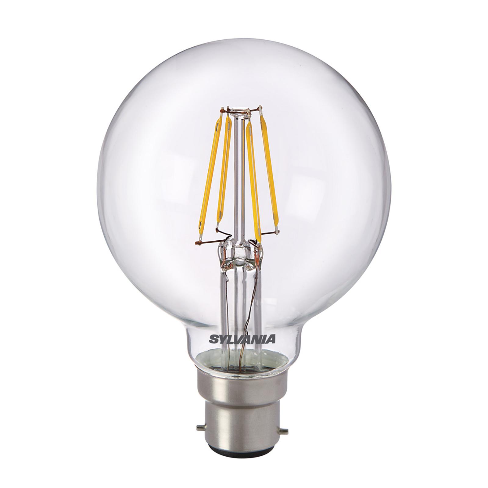B22 5W 827 LED-pallolamppu, kirkas